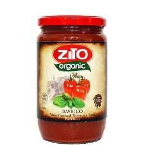 Zito Organic Pasta Sauce Basilico (Vine-Ripened Tomato & Basil) 690G