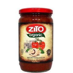 Zito Organic Pasta Sauce Mediterranean (Tomato & Mushroom) 690G