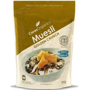 Ceres Organics Golden Crunch Museli 700G
