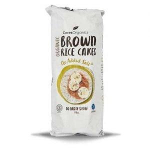 Ceres Organics Brown Rice Cakes No Salt 110G