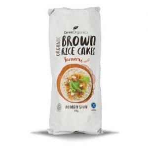 Ceres Organics Brown Rice Cakes Tamari 110G