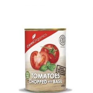 Ceres Organics Tomatoes Chopped Basil 400G