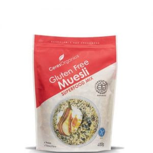 Ceres Organics Muesli Super Grain Mix Gluten Free 400G