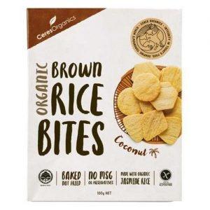Ceres Organics Brown Rice Bites Coconut 100G