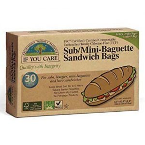 If You Care Sub / Mini Baguette Sandwich Bags 30 Bags