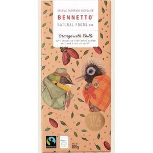 Bennetto Orange & Chilli Choc Bar 100G
