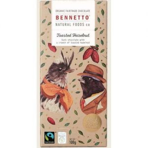 Bennetto Toasted Hazelnut Chocolate Bar 100G