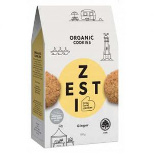 Zesti Organic Ginger Cookies 180G