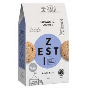 Zesti Organic Raisin & Oat Cookies 180G