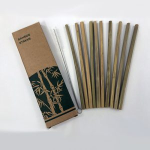 Bamboo Straw & Cleaner Set