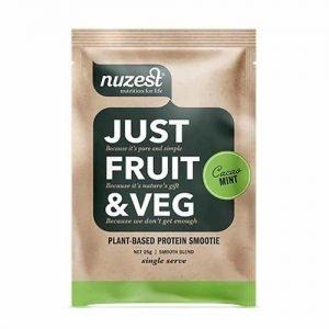 Nuzest Just Fruit & Veg Protein Smoothie Cacao Mint 25G