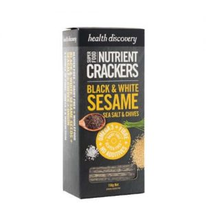 Health Discovery Black & White Sesame Crackers 150G