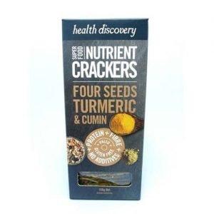 Health Discovery Turmeric Cumin Crackers 150G