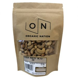 Organic Nation Cashews Roasted Salted 150G