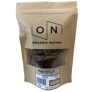 Organic Nation Bananas Dried 150G