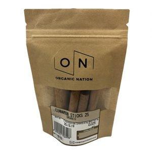 Organic Nation Cinnamon Sticks 25G