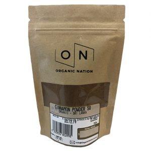 Organic Nation Cinnamon Powder 50G