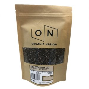 Organic Nation Chia Seeds Black 200G