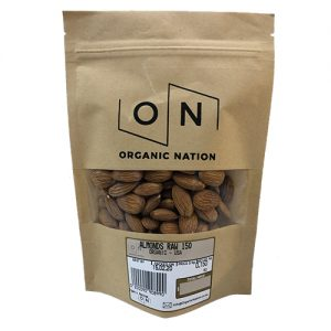 Raw Almonds 150G Organic Nation