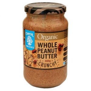 Chantal Organics Crunch Whole Peanutbutter 400G
