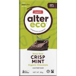Alter Eco Dark Mint Chocolate 60% Cacao 80G