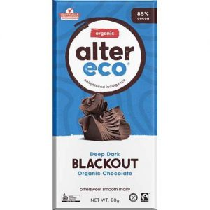 Alter Eco Deep Dark Blackout Chocolate 85% Cacao 80G