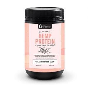 Nutra Organics Beauty Berries Hemp Protein – Vegan Collagen Glow 500G