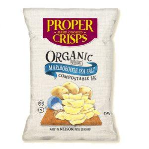 Proper Crisps Organic Potato Crisps with Sea Salt 150g