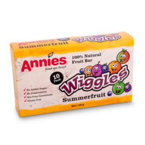 Annies Wiggles Fruit Bars Summerfruit 10 Pack 140G