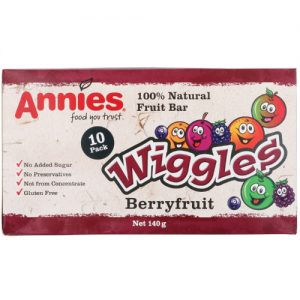 Annies Wiggles Fruit Bars Berryfruit 10 Pack 140G