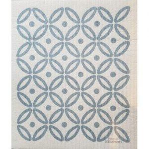 Florence Terrazzo Art Deco Dishcloth – Grey