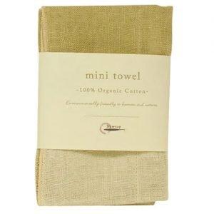 Nawrap Organic Mini Towel Grn/Ivory