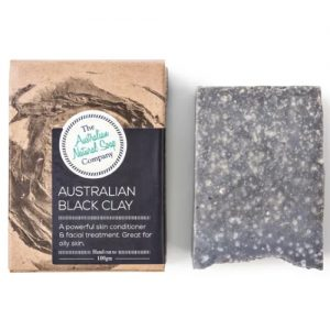 Australian Natural Soap Company Black Clay Soap 100G