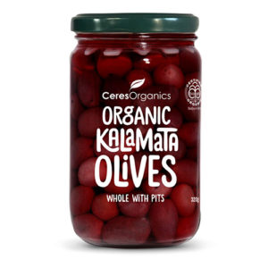 Ceres Organics Kalamata Olives, Whole With Pits 320G