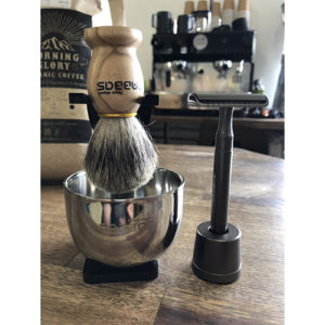 Organic Nation Old School Shaving Brush Kit
