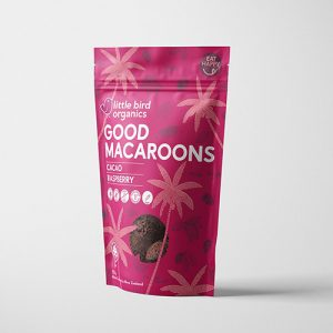 Little Bird Organics Good Macaroons Cacao & Raspberry 125G