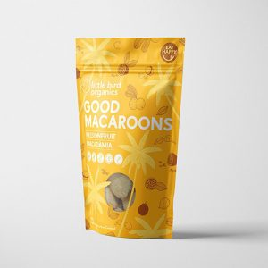 Little Bird Organics Good Macaroons Passionfruit & Macadamia 125G