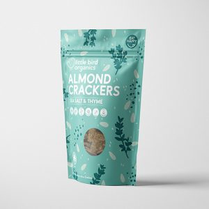 Little Bird Organics Almond Crackers Sea Salt & Thyme 100G