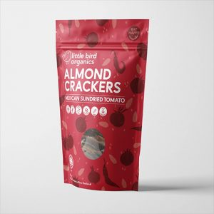 Little Bird Organics Almond Crackers Mexican Sundried Tomato 100G