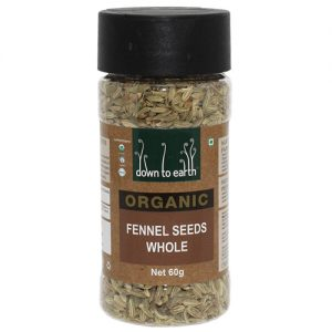 Down To Earth Organics Fennel Seeds Whole 60G