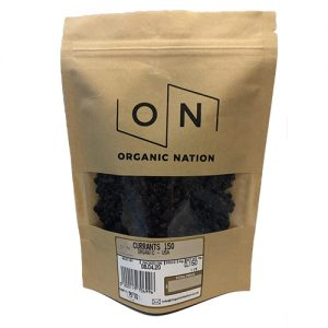 Organic Nation Dried Currants 150G