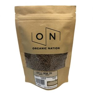 Organic Nation Brown Lentils 250G