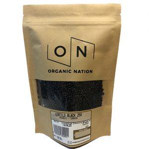 Organic Nation Black Lentils 250G