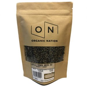 Organic Nation French Green Lentils 250G