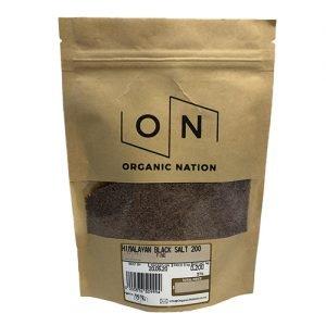 Organic Nation Himalayan Black Salt 200G
