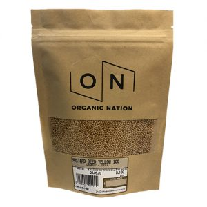 Organic Nation Mustard Seed Yellow 100G